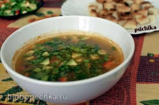 Фасолевый суп-пюре с гуакомоле