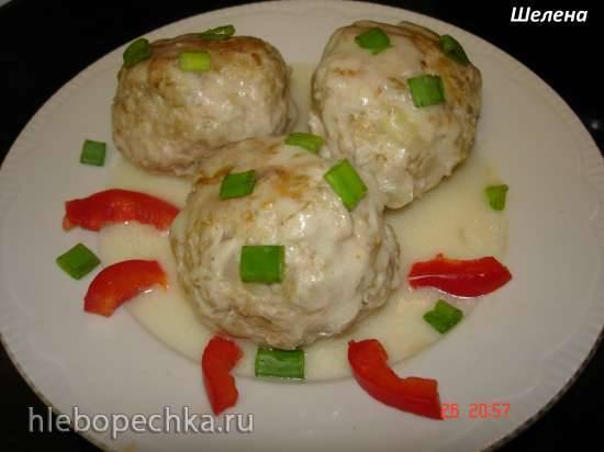 Мясные тефтели в сметанном соусе (скороварка Polaris 0305)