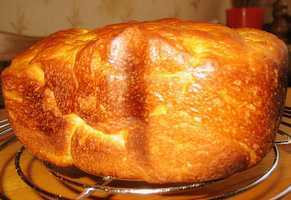 Хлеб из заварного дрожжевого теста (хлебопечка)