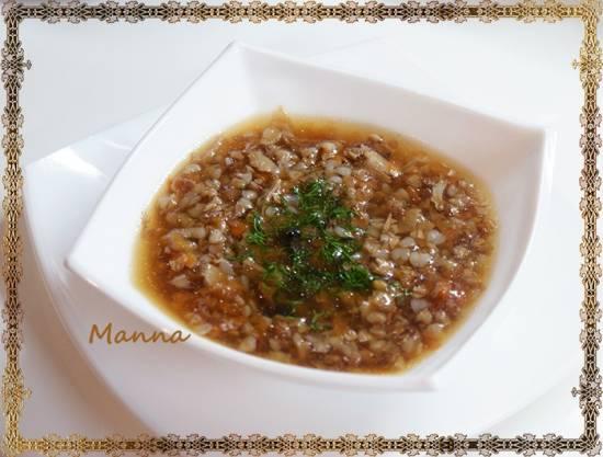 Грибной суп с гречкой (мультиварка Brand 701) Грибной суп с гречкой (мультиварка Brand 701)