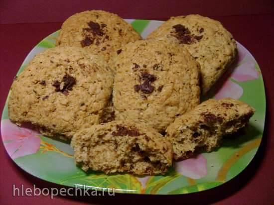 Печенье овсяное кофейно-шоколадное