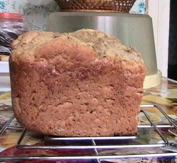 Хлеб на яблочном пюре с овсяными хлопьями в хлебопечке