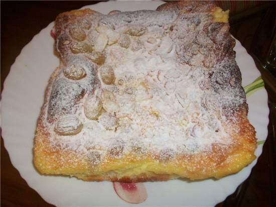 Сливочный пирог с виноградом