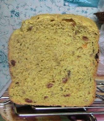 Тыквенный хлеб «Золотой» в хлебопечке
