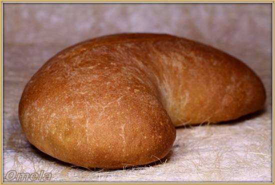 Пшеничный хлеб с цельнозерновой мукой Кепка (в духовке)