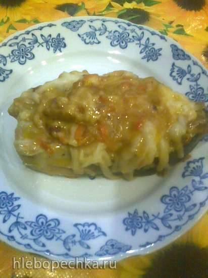 Филе горбуши, запеченное под сыром