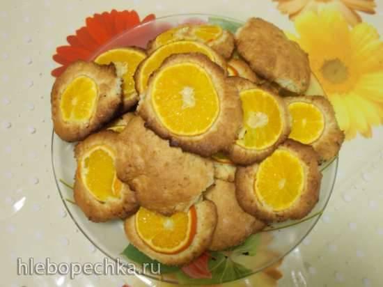 Нежное печенье с мандариновыми кружочками