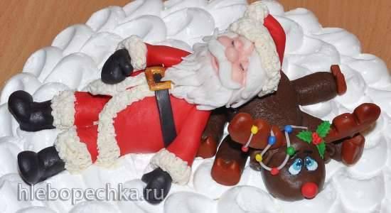 Уставший Санта и рождественский олень из мастики (мастер-класс)