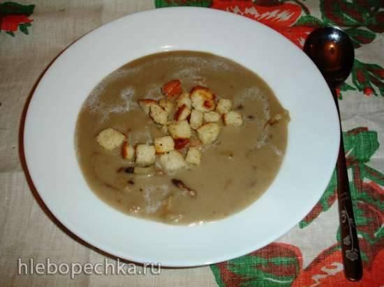 Крем-суп грибной с белой фасолью в блендере-суповарке Endever Skyline BS-90 Грибной суп-пюре в \\