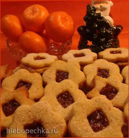 Печенье с фундуком и абрикосовым джемом