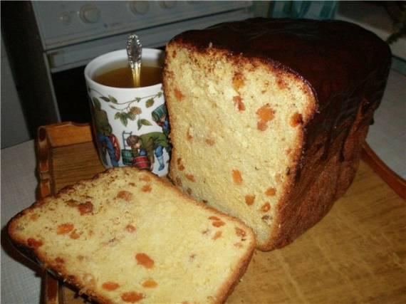 Кулич на скорую руку в хлебопечке (вариант 5)