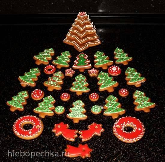 Нежное печенье (пряники) на елку
