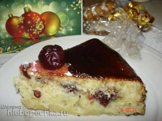 Торт-пирог с вишнями и орехами в скороварке или духовке (Polaris 0305)