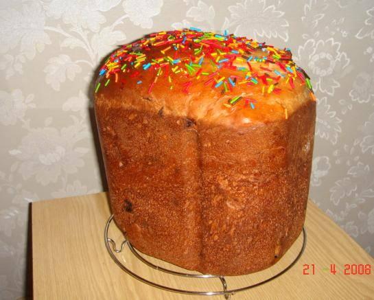 Кулич сладкий (в хлебопечке)