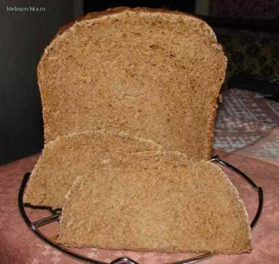 Черный пивной хлеб с отрубями.