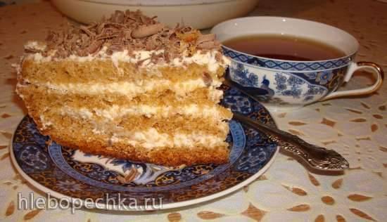 Можно ли медовый торт с кремом из сметаны украсить мокрым безе?