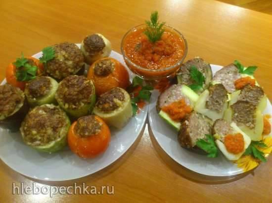 Овощи, фаршированные бараниной