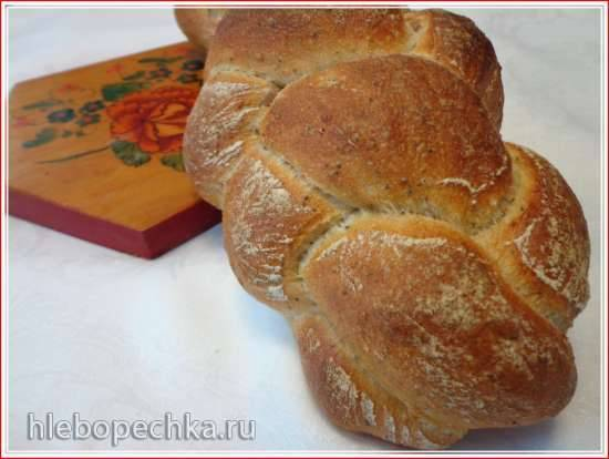 Хлеб плетеный на закваске