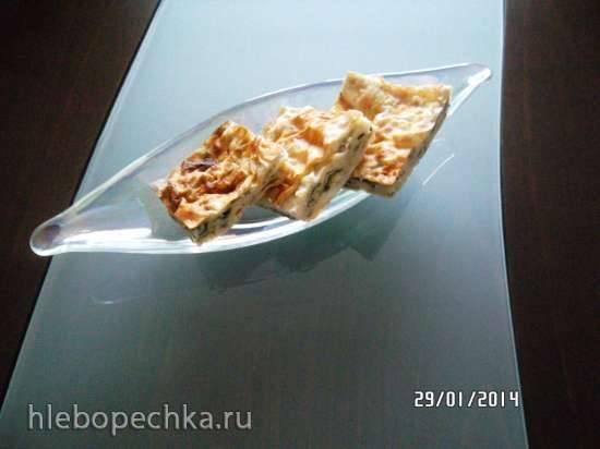 Лорлу испанаклы бёрек - творожно- шпинатный пирог (мастер-класс)