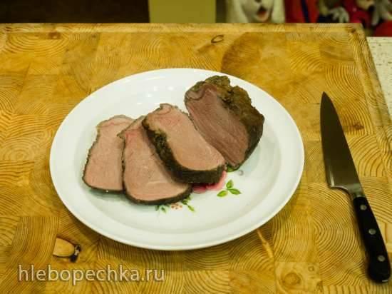 Ростбиф из говядины приготовленный при 65°C (скороварка Steba DD1)