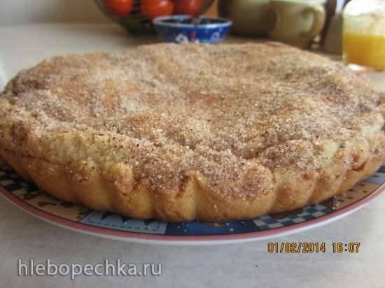 Пирог песочный  яблочный