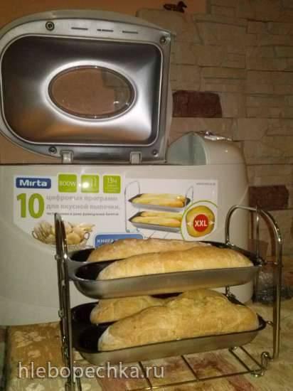 Багеты с сыром в хлебопечке Mirta BM2088