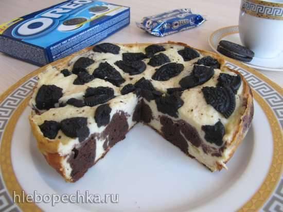 """Брауни-чизкейк с печеньем Oreo """"Черно-белый"""""""