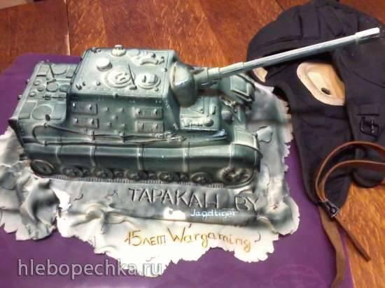 """Торт """"Танк"""" (мастер-класс)"""