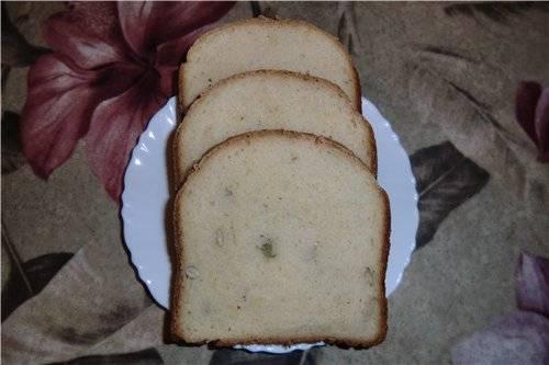 Пшеничный хлебушек с тыквой и тыквенными семечками в хлебопечке