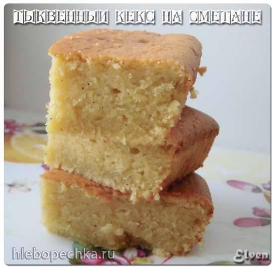 Необычный пирог с тыквой Тыквенный кекс на сметане (Pumpkin Sour Cream Quick Bread)