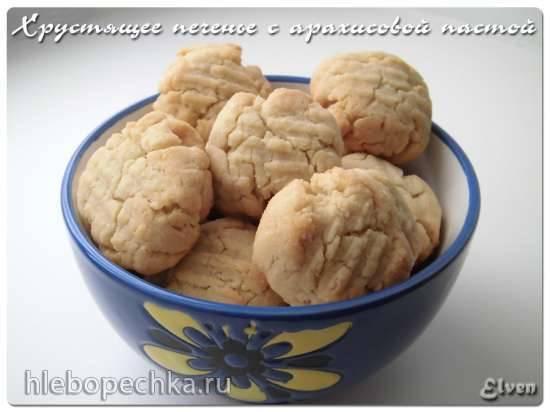 Хрустящее печенье с арахисовой пастой