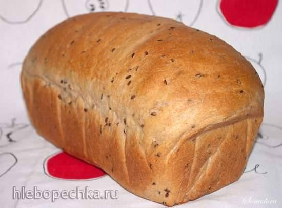 Пшеничный цельнозерновой хлеб с семенами льна