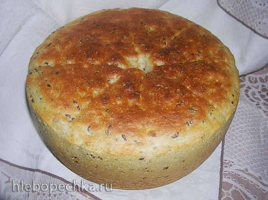Хлеб пшеничный (в основе льняной кисель и овсяное молоко)