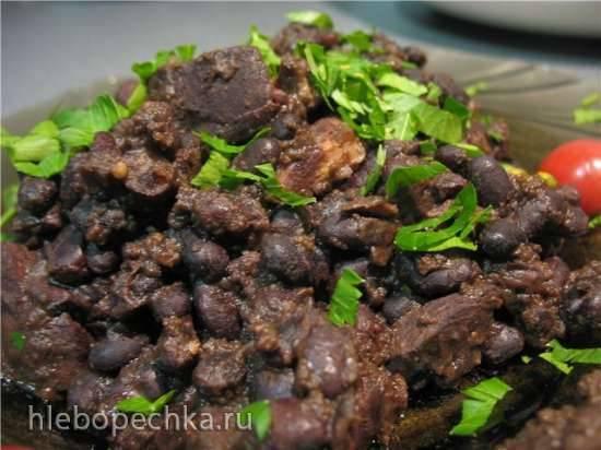 Фасоль с мясом в мультиварке Cucoo
