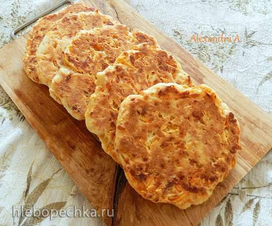 Творожно-сырные лепешки с морковью