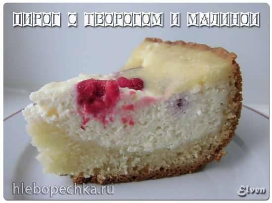 Пирог с творогом и малиной (Cкороварка Brand 6050)