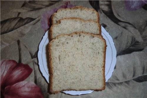 Хлеб с сыром, укропом и отрубями