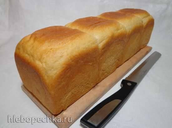 Заварной хлеб для тостов на спельтовой муке