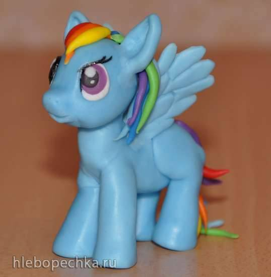 "Пони Радуга из мультфильма ""Мy Little Pony"" (мастер-класс, лепка из мастики)"