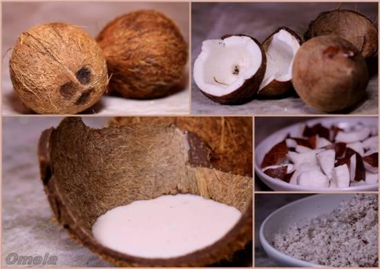 Рис отварной на кокосовом молоке Кокосовое молоко и масло (мультиблендер Profi Cook PC-МСМ1024)