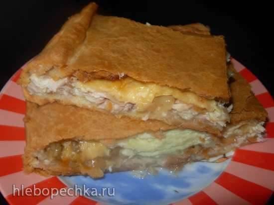 Курник с сыром и яйцами