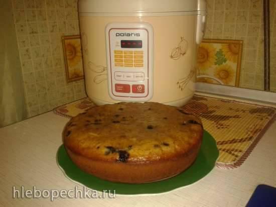 """""""Бананово-черничный пирог"""" для мультиварки Polaris PMC 0507D Kitchen"""