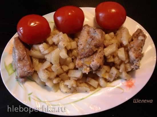 Томлёный картофель со свиными рёбрышками (скороварка Polaris 0305)