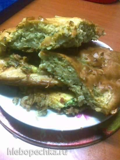 Суперленивый пирог с капустой