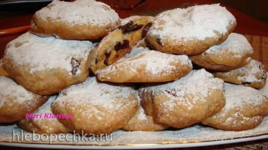 Апельсиновое печенье с сушенной клюквой и шоколадом