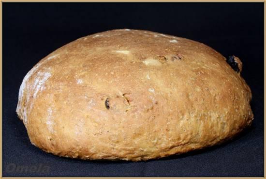 Овсяный хлеб с изюмом (в духовке)