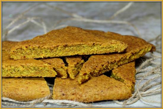 Морковное печенье с хлопьями (постное)