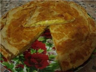 Закусочный пирог с плавленым сырком