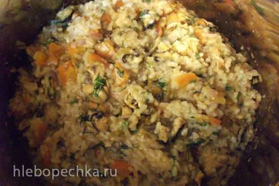 Мидии с рисом и фруктами-овощами (мультиварка-скороварка Steba DD1)