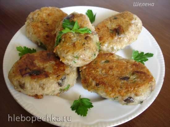 Овсяно-картофельные котлеты с грибами
